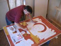 Позолота наносится после нанесения рисунка